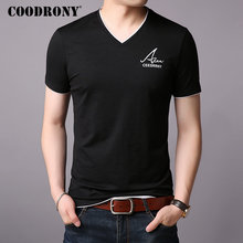 COODRONY Brand T Shirt Men Short Sleeve T-Shirt Summer Streetwear Casual Mens T-Shirts V-Neck Cotton Tee Homme S95004