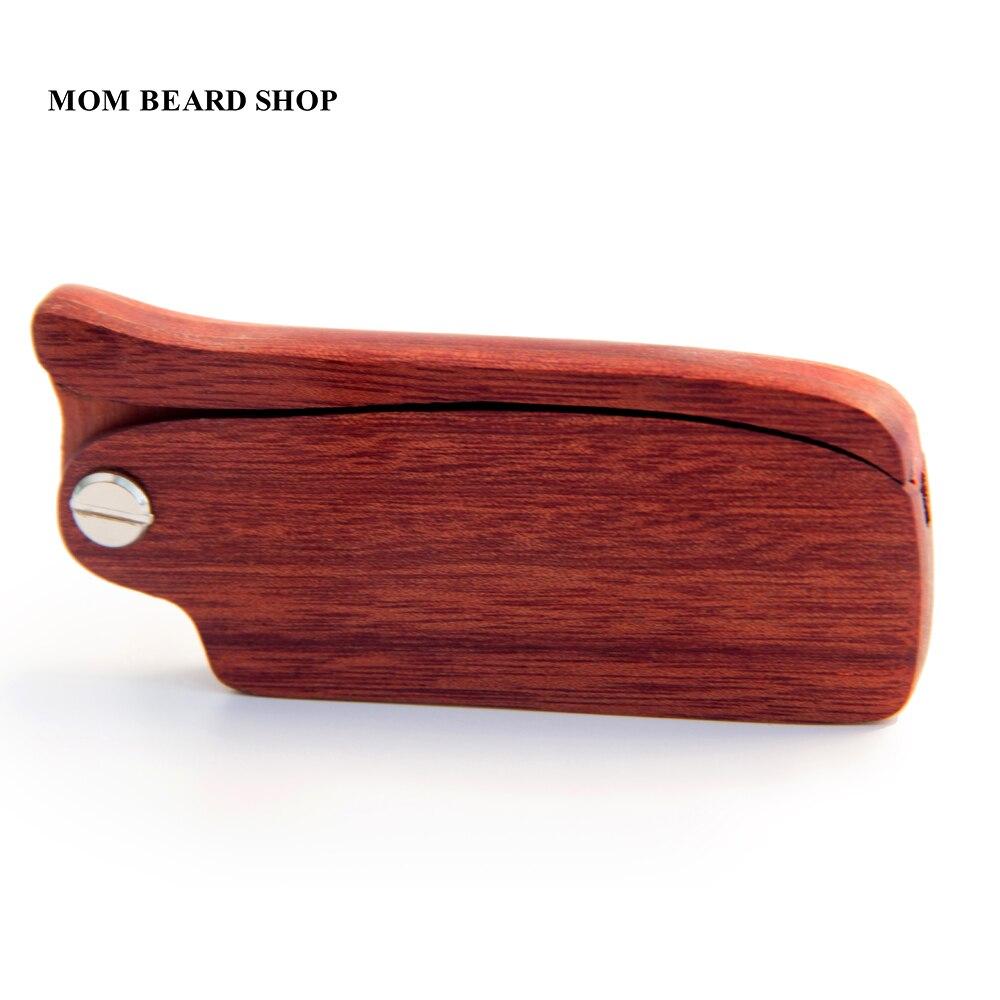 Men Folding Beard Comb Wooden Massage Hair Brush Comb Folding For Beard Hair Styling Tool Long Handle Fine Tooth Wood Comb 1PCS 2
