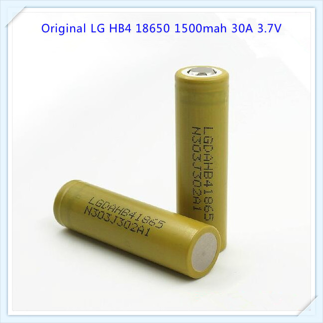 original for LG HB4 18650 1500mah 30A Li-ion high drain 3.7v 1500mah HB4 battery(1 pc)