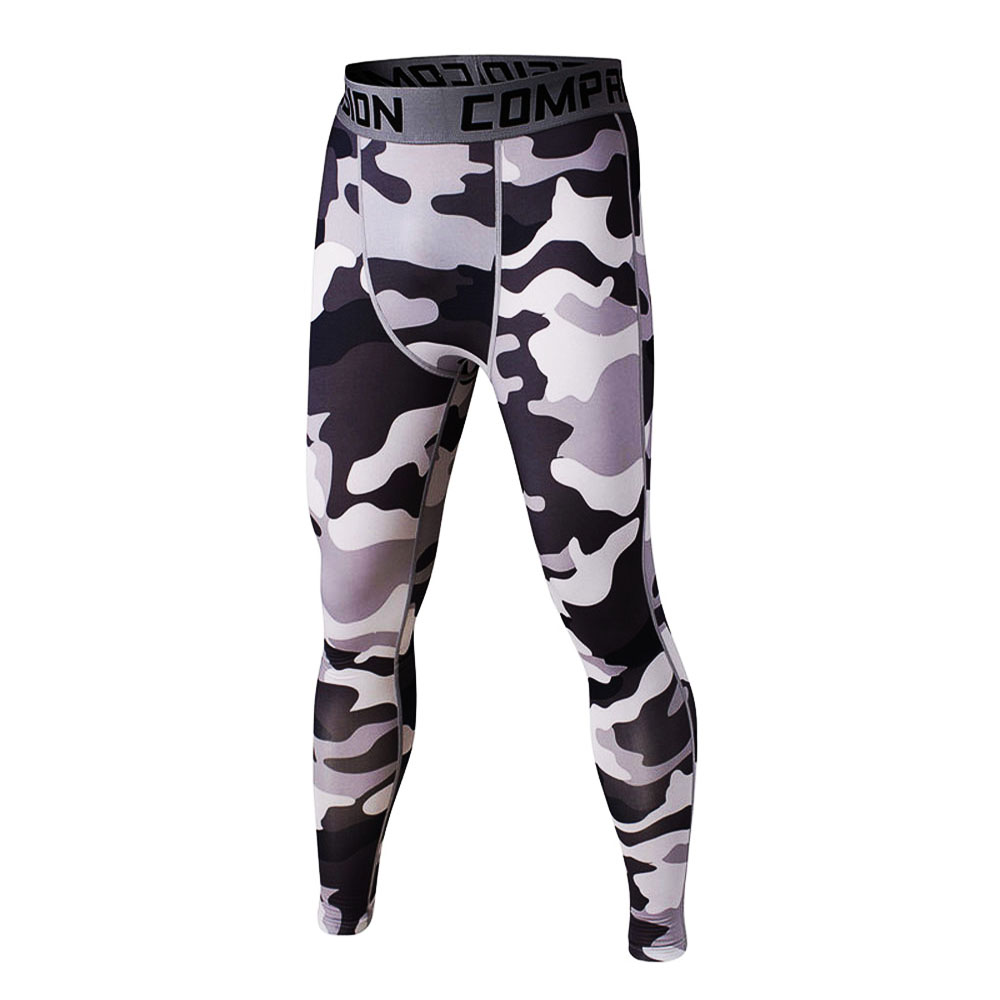 Camouflage 3D Print Mens Compression Pants Fashion Jogger Collant - Abbigliamento da uomo - Fotografia 4