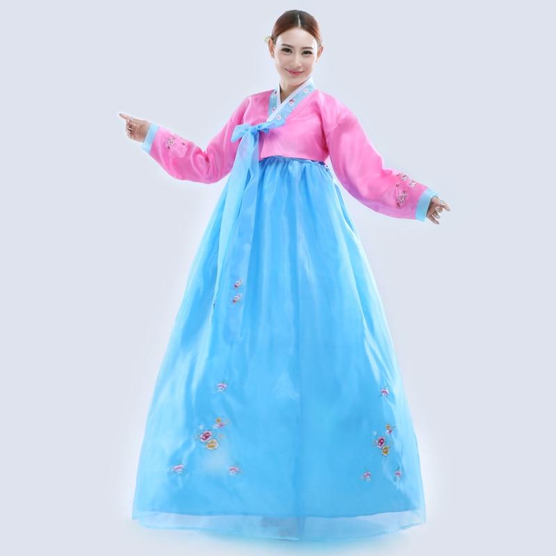 Robe traditionnelle coréenne broder les femmes Hanbok robe - Vêtements nationaux - Photo 2