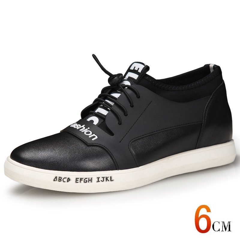 e1233fdf X1122 Fashion Genuine Leather Men Casual Flat Heel With Hidden Increased  Height Insole Get Taller 6