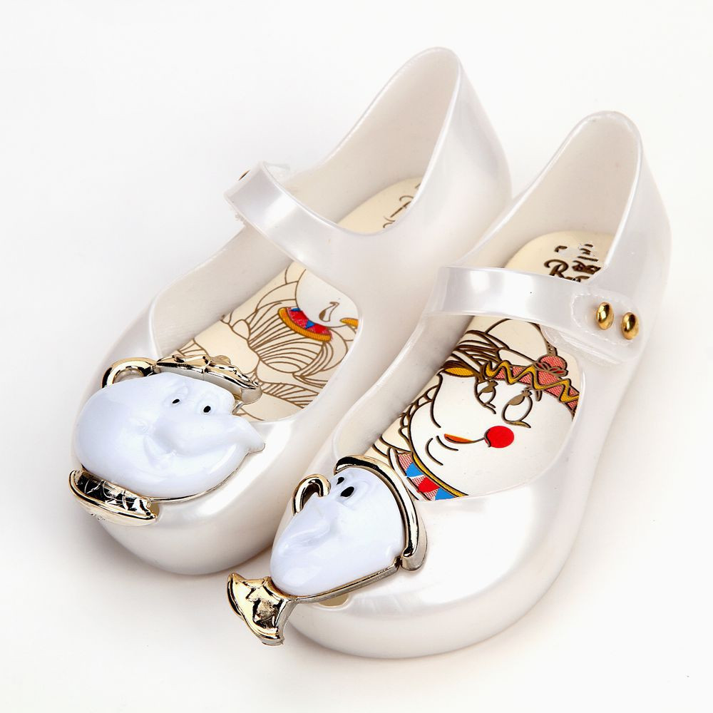 Melissa teacup sandálias 2019 nova primavera crianças sandálias beauty beast meninas sapato jelly sandálias antiderrapante criança sapatos