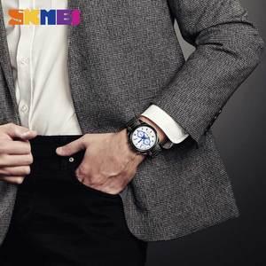 Image 3 - SKMEI NEW Business Men Quartz Watches Alloy Strap Large Dial Watch Waterproof Wirstwatch Relogio Masculino 1378 erkek kol saati