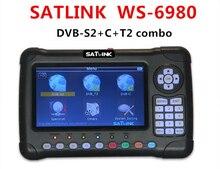 Satlink WS-6980 DVB-S2 DVB-T/T2 DVB-C Combo 6980 Dijital Uydu Bulucu 7 inç HD Ekran Spektrum Analizörü takımyıldızı