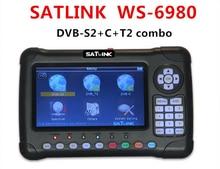 Satlink WS-6980 DVB-S2 DVB-T/DVB-C T2 Combo 6980 constelación Spectrum Analyzer Buscador de Satélite Digital de 7 pulgadas HD de Pantalla