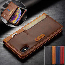 For iPhone Xs Max Case Flip Magnetic Phone On Hoesje XR Leather Wallet Cover X Apple