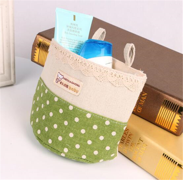 Linen Cotton waterproof Storage Bag hanging closet organizer