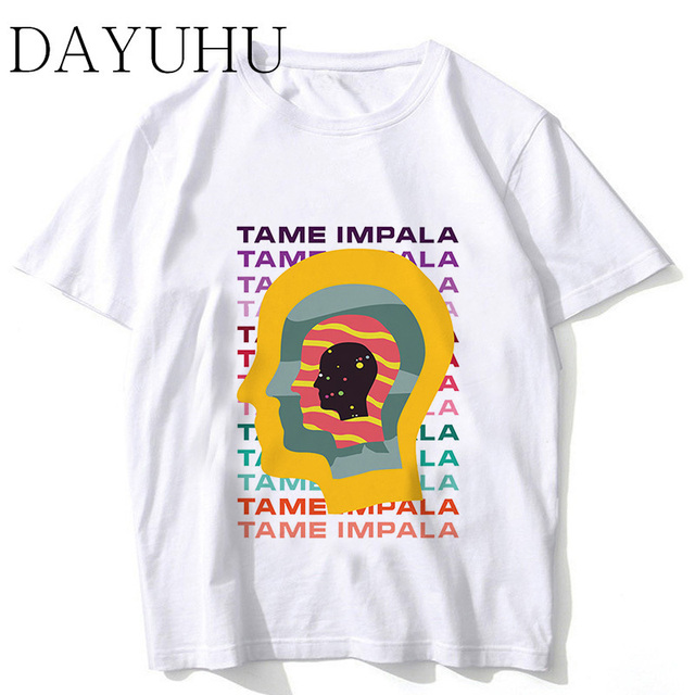 fc83f27a79cc Tame Impala T-Shirts Men anime Custom Tee 2018 Summer Short Sleeve Fitness T  shirt ms213