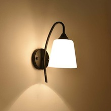 BOKT American Style Bedside Wall Sconces Modern Wall Lamp Single-Head Living Room Lights Dining Room Hallway Bedroom Wall Light free shipping bedroom wall light new modern polished iron adjustable armed lever fashionstudy room hallway gallery wall lamp