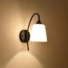 BOKT American Style Bedside Wall Sconces Modern Lamp Single-Head Living Room Lights Dining Hallway Bedroom Light