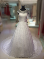 Poemssongs Custom Made High Quality Lace A Line Wedding Dresses Mariage Dress Robe De Mariee Bride