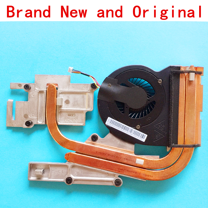 New Notebook CPU Fan With Heatsink Radiator Copper Tube Module For LENOVO IdeaPad Y510P Y500 Independent Replace Accessories