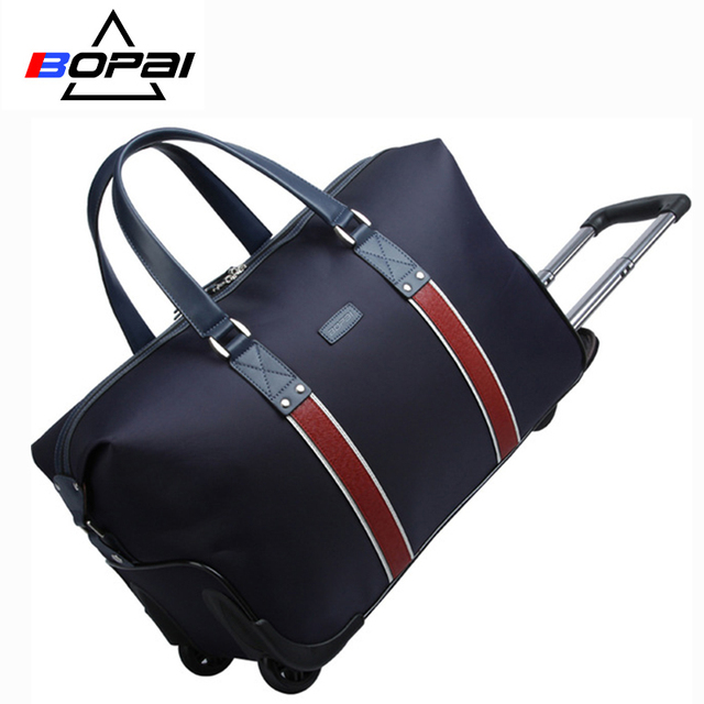 New Arrival Bopai High Quality Travel Bag On Wheels Trolley Rolling In Waterproof Fabric