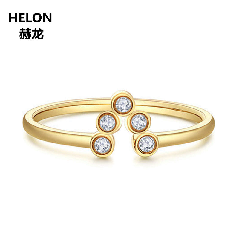 Solid 10k Yellow Gold Women Wedding Band SI/H Full Cut Natural Diamonds Engagement Ring Certified Diamnds Office Career StyleSolid 10k Yellow Gold Women Wedding Band SI/H Full Cut Natural Diamonds Engagement Ring Certified Diamnds Office Career Style
