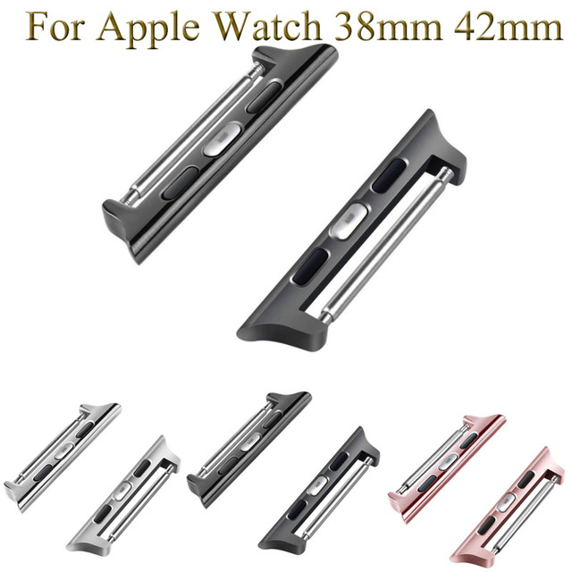 1 pair Watchbands Accessories for Apple Watch Adapter Stainless Steel Band Conne