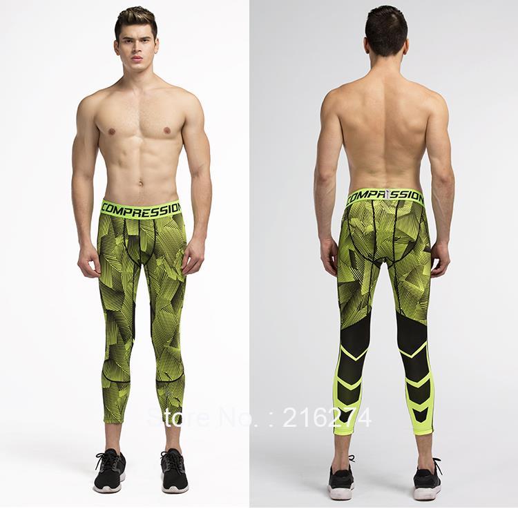 Mens compression 3 4 pants sports jogger jogging running tights ... 731a1bc57