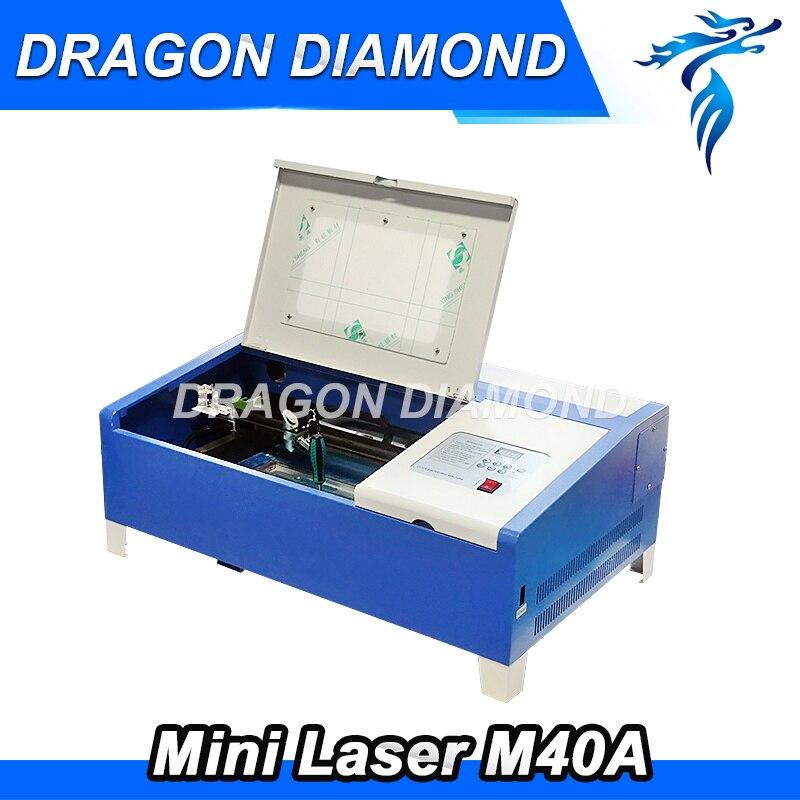 Nouveau Mini CO2 Laser gravure Machine de découpe graveur LZ-M40A 40 w