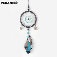 Green Beads Dreamcatcher Car Pendant Ornaments Handmade Dream Catcher Jewelry Pendant Car Home Decoration Crafts Gifts