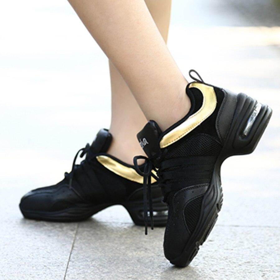 Hot Sale Black Golden Air Cushion Mesh Modern Dancing Sneakers Jazz Dance Shoes DS14-203 Zapatos De Dance Free ShippingHot Sale Black Golden Air Cushion Mesh Modern Dancing Sneakers Jazz Dance Shoes DS14-203 Zapatos De Dance Free Shipping
