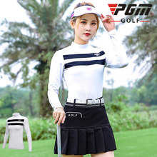 Ladies Long Sleeve Training T-Shirts O-Collar Breathable Striped Golf