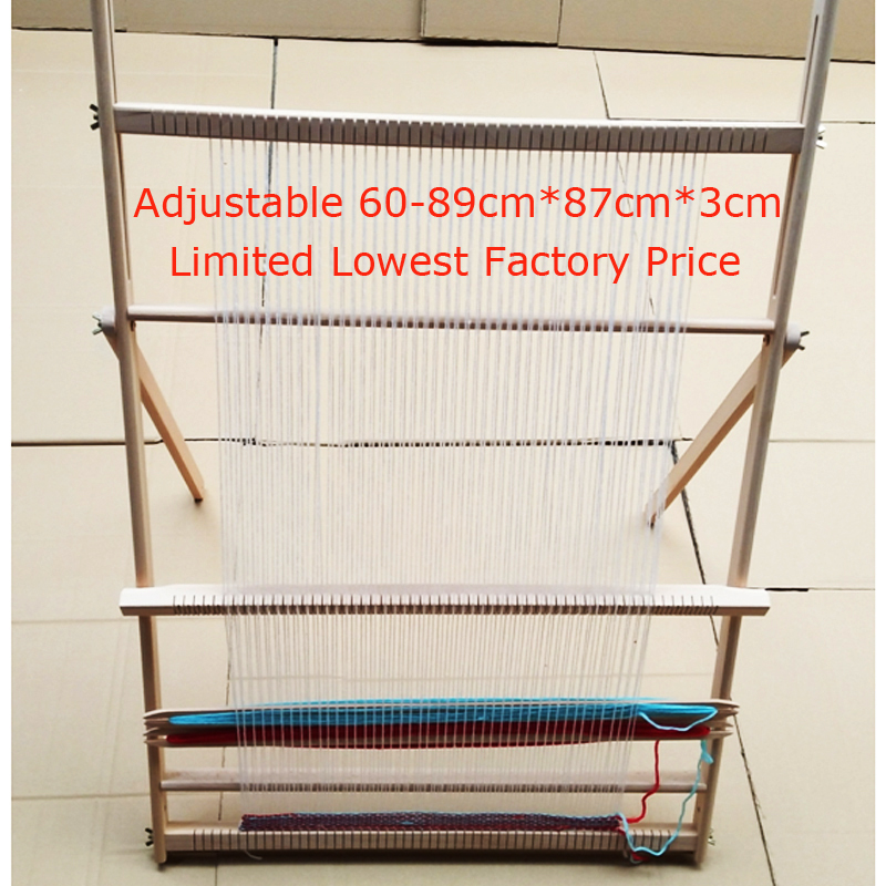 Hand-made looms DIY lifting Tapestry Loom Large frame knitting machine with Smooth surface Beech wooden 89*87cm