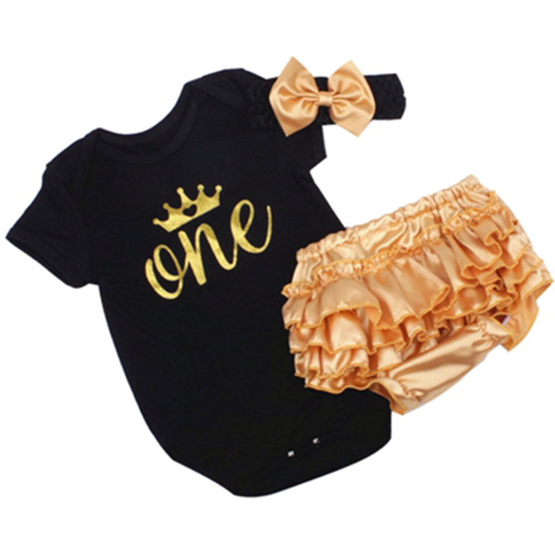 New Born Baby Girl Party Clothing Sets 1st Birthday Outfits Baby Body as Gift Bodysuit+Tutu Bloomers+Headband 3pcs Clothes Set new baby girl clothing sets lace tutu romper dress jumpersuit headband 2pcs set bebes infant 1st birthday superman costumes 0 2t