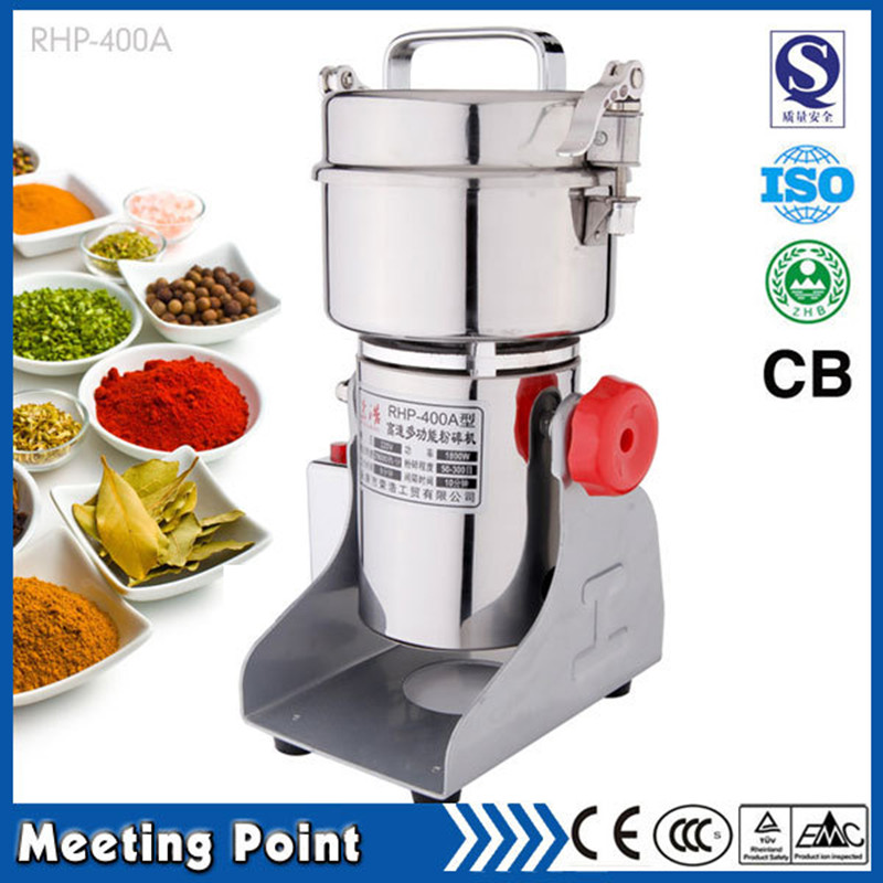on sale 400g food grade stainless steel new electric coffee grinder whole grains ultrafine mill powder machine