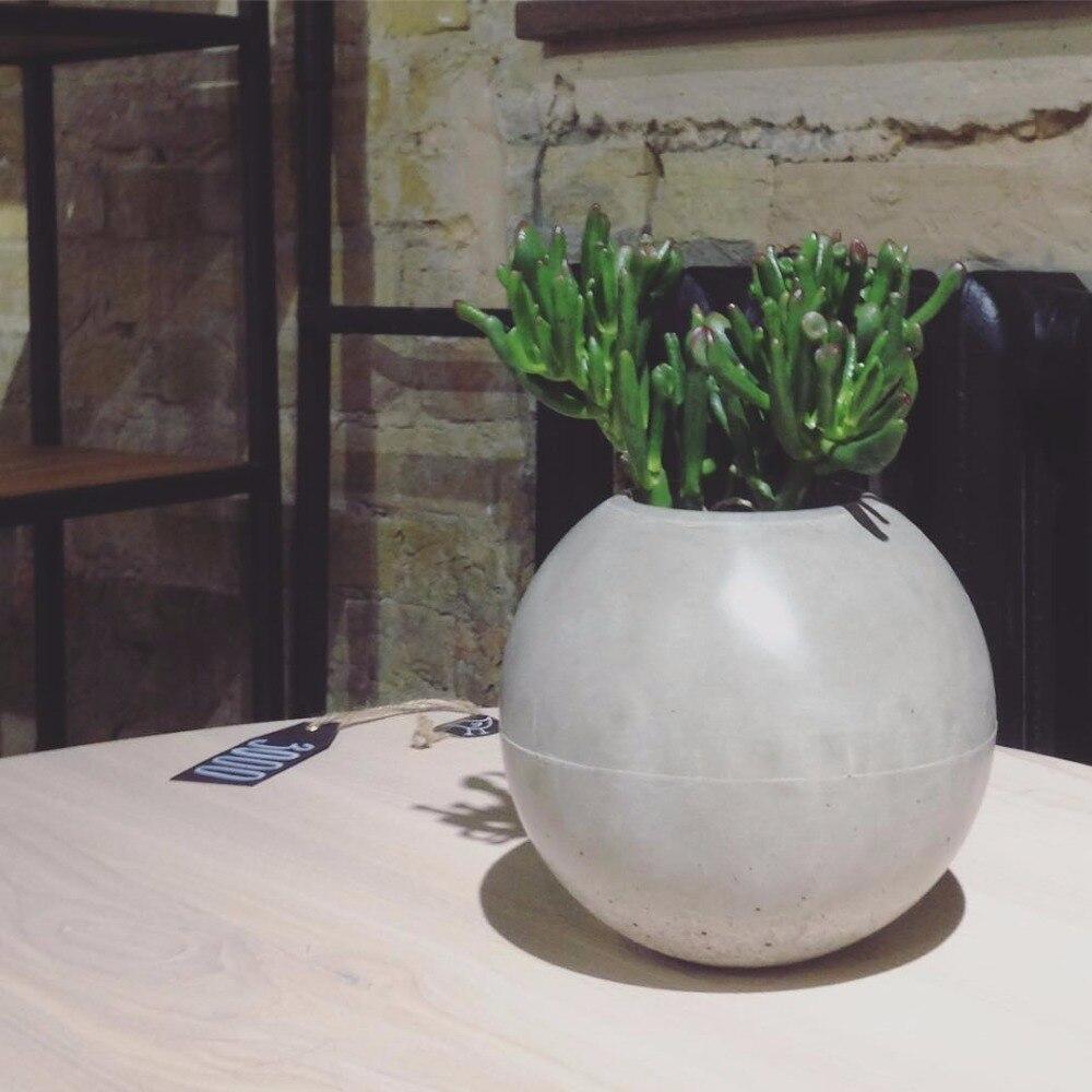 Moule de pot de fleurs sphérique en forme de boule moule de pot en béton moule en béton de silicone