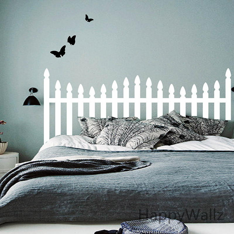 Headboard Wall Sticker Bedroom Butterfly Headboard Wall Decal DIY Decorating Modern Decor...