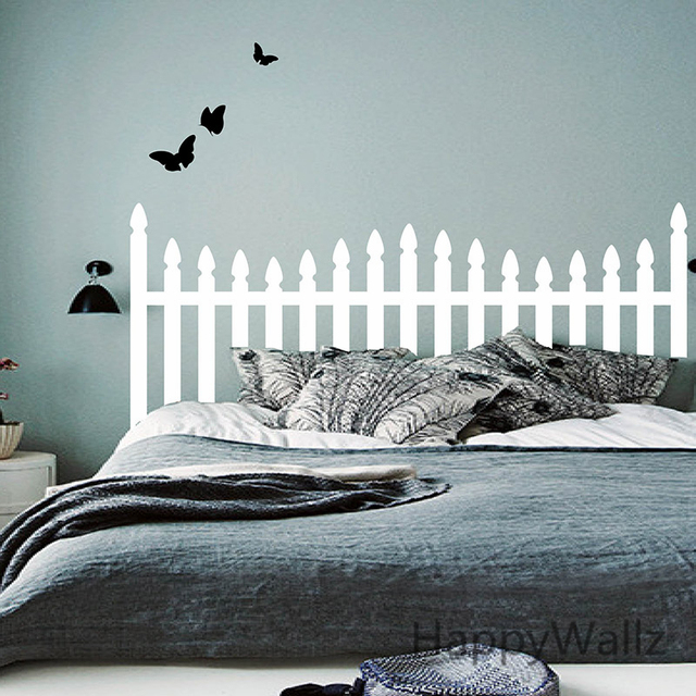 Testiera wall sticker camera da letto farfalla testiera wall ...