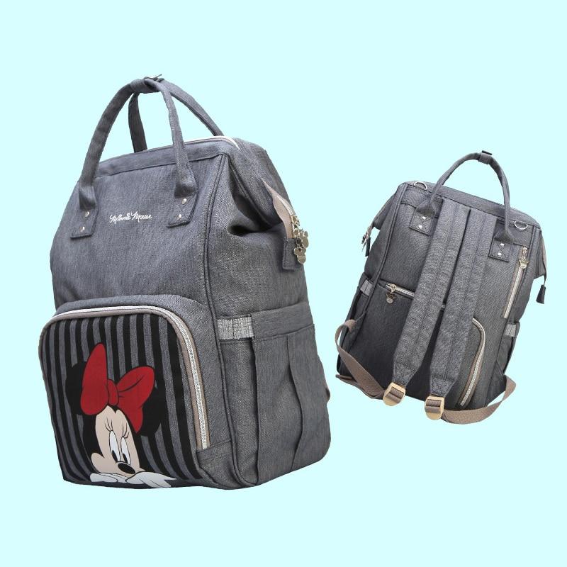 Sac à langer sac à dos chauffe biberon Mickey Minnie sac à dos momie de voyage sacs bébé pour maman sac poussette