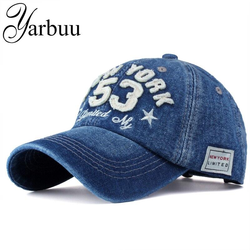 Prix pour [YARBUU] 2016 Nouveau Coton Lettre Marque Casquette de baseball Hommes et Femmes Snapback Ne Vieux Moto Chapeau 8 Couleurs hip hop jeans caps