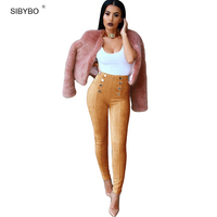 New Winter Pants High Waisted Push Up Slim Stretch Suede Leather Autumn Fashion Leggings Skinny Tight