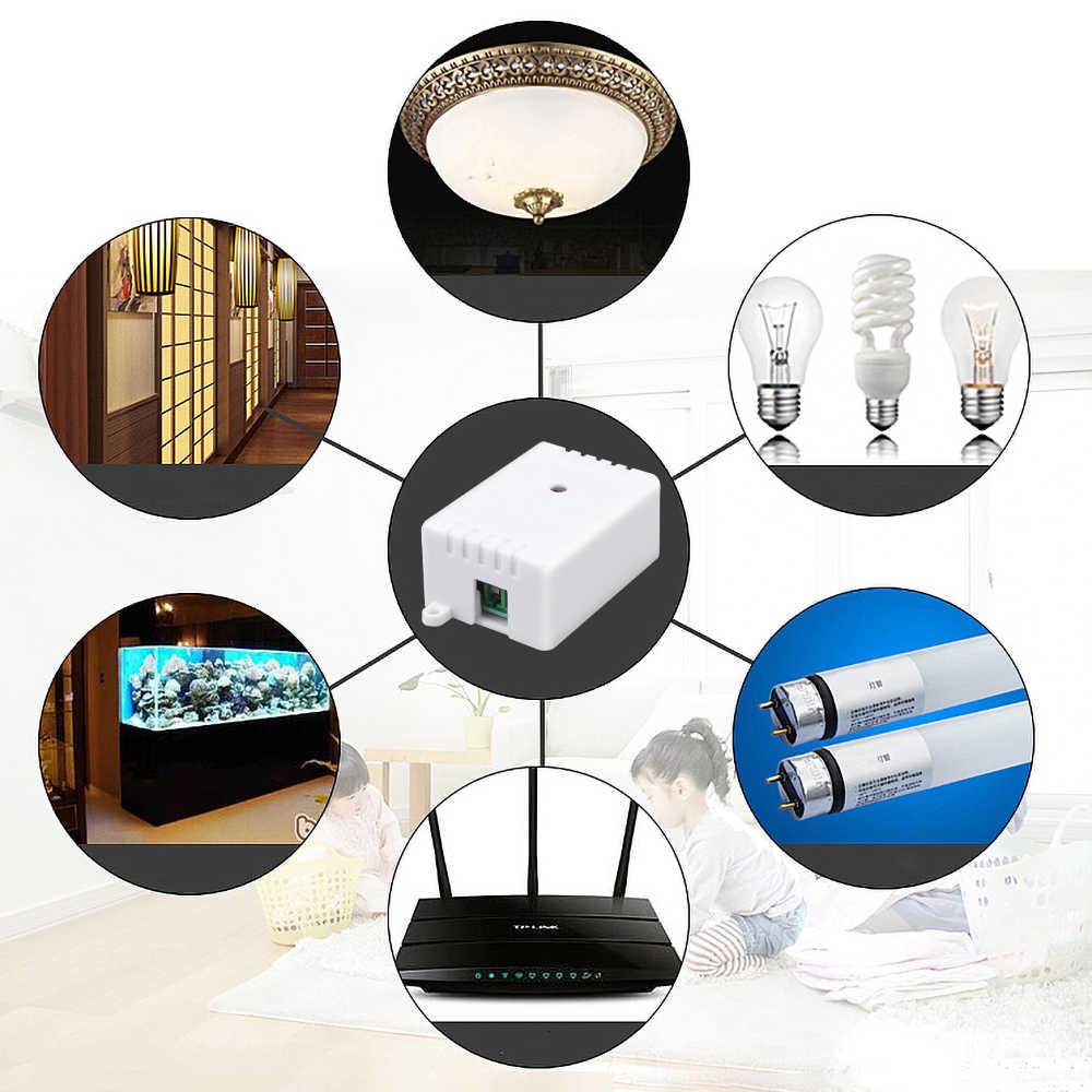 Kablosuz 315/433 MHz evrensel kablosuz uzaktan kumanda anahtarı AC/DC 1CH röle alıcı modülü duvar paneli RF uzaktan kumandalar