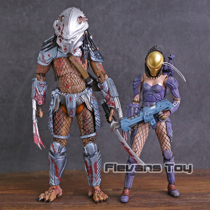 Dark Horse Comics Alien vs. Predator Machiko Noguchi Hornhead Predator PVC Action Figure Collectible Model Toy 2pcs/set