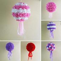 1Pc 11 02Inch Foam Flower Ball Wedding Decoration Foam PE Artificial Kissing Rose 28cm Romantic Supplies