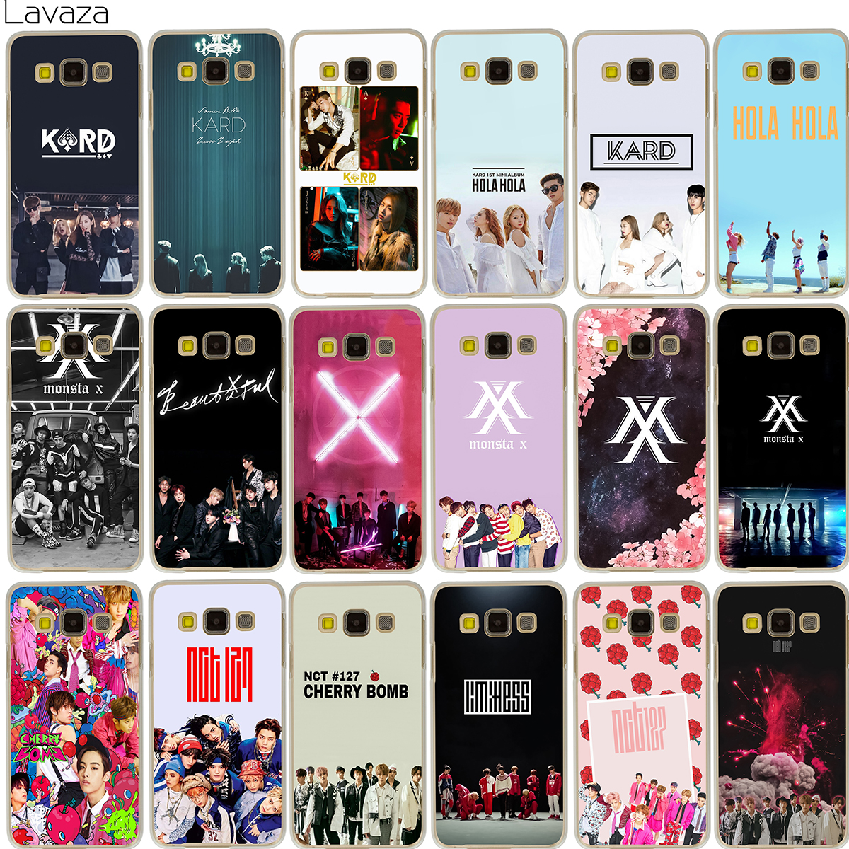 Lavaza KPOP K.A.R.D MONSTA X NCT 127 Case for Samsung Galaxy Note 8 A3 A5 A8 J3 J5 J7 2016 2017 2018 ...