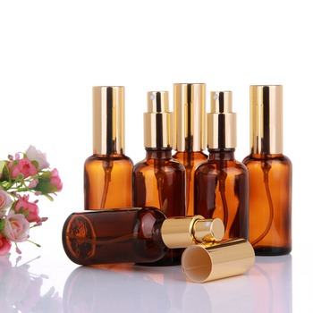 yaye 1pc 6pcs 50ml Glass Bottles Spray Refillable Perfume Atomizer Travel Portable Gold Caps Wholesale Dropshipping image