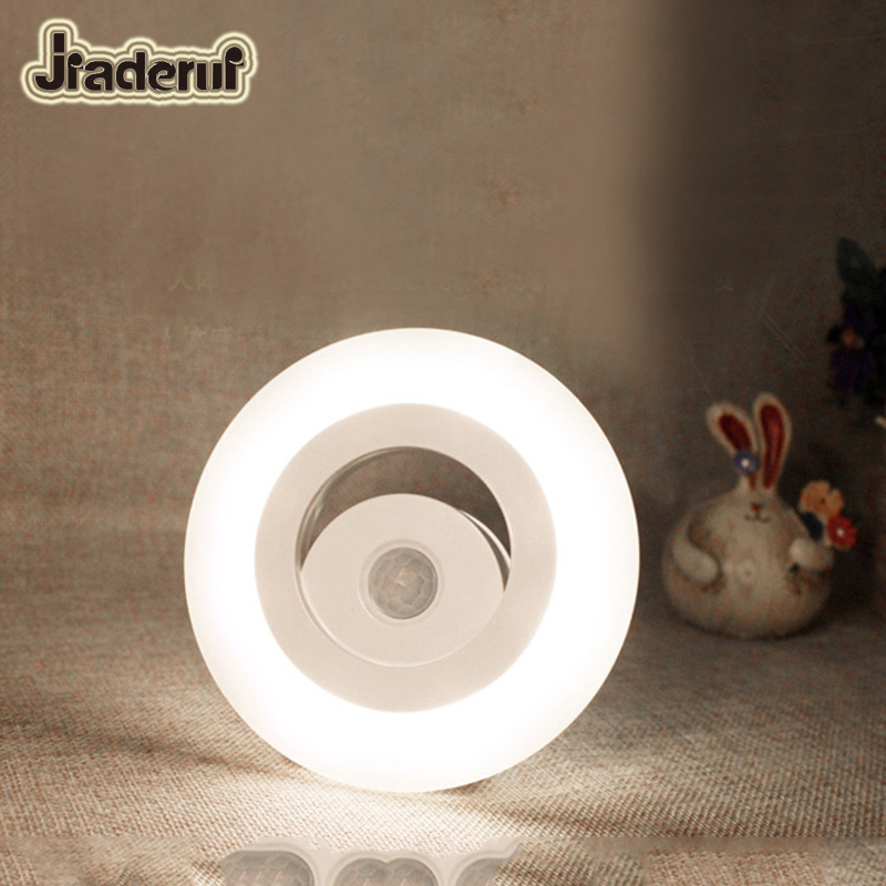 Jiaderui Motion Sensor PIR High Quality LED Baby Night Light Human Body Induction Lamp for Home Bedroom Closet Cabinet Wall Lamp