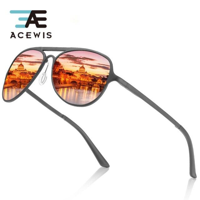 ACEWIS יוקרה משקפי שמש oculos דה סול feminino גברים מקוטב בציר מותג מעצב טייס שחור אופנה גווני נהיגה משקפיים