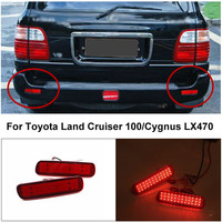 For Toyota Land Cruiser 100 Cygnus LX470 Car LED Rear Bumper Reflector Light LED Parking Warning