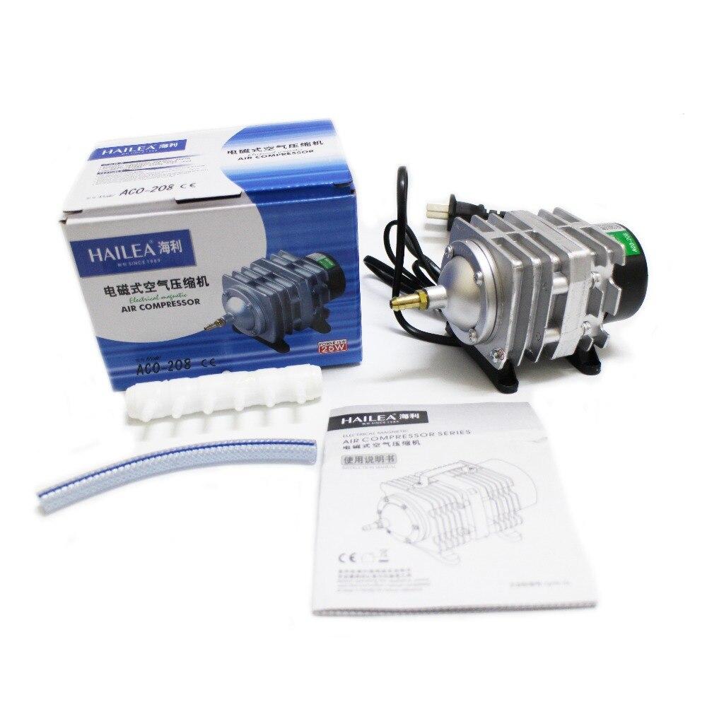 Compresseur d'air électromagnétique de 45L/min 25 W Hailea ACO-208, pompe à Air d'aquarium, pompe à oxygène d'aquarium
