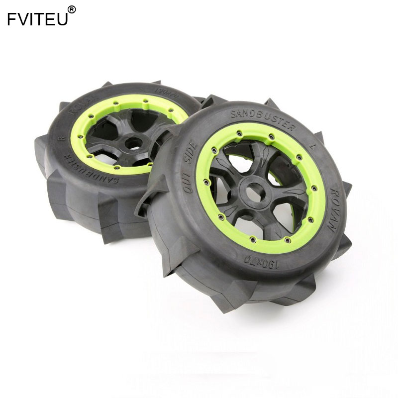 Fviteu 고무 모래 바퀴 타이어 세트 적합 1/5 losi 5ive t rovan baja 4wd/slt king motor x2-에서부품 & 액세서리부터 완구 & 취미 의  그룹 1