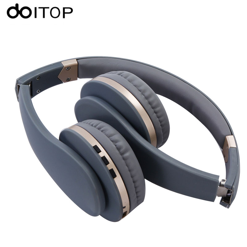DOITOP Bluetooth 4.2 Stereo Headphone Headset Wireless HIFI Music Headset Foldable Headphones Earphone 3.5mm AUX MP3 Playing kz lp5 bluetooth earphone apt x wireless headphone wired bass headset portable foldable headphones 1 2m cable