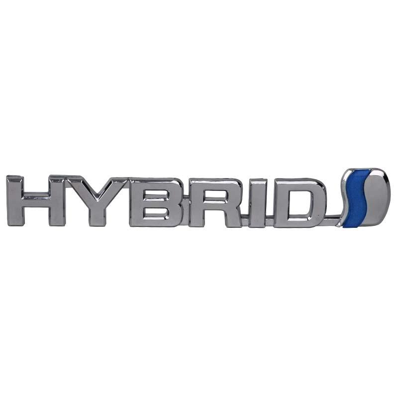 Mayitr 1 Pcs Abs Hybrid Car Emblem Badge Trunk Logo Stickers Decal For