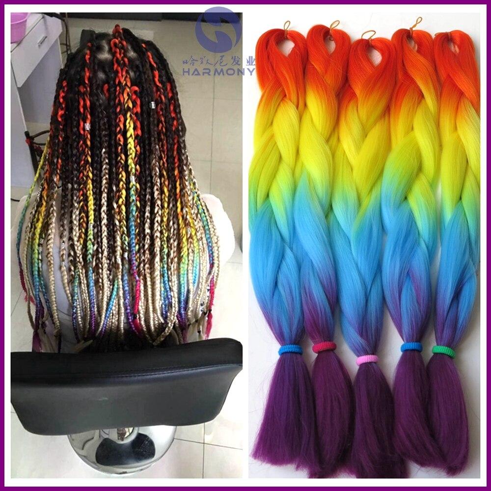 Free Shipping 10pcs Lot Harmony Rainbow Jumbo Braiding