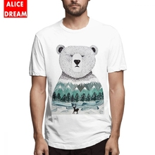 Polar Bear T shirt Men's O-neck Nordic Pal T Shirt New T Shirt Pure Cotton S-6XL Big Size Tee стоимость