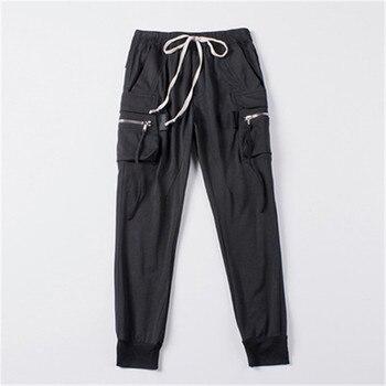 2019ss Men Cotton Pants Owen Gothic Women Casual Summer Spring Black Harem Pants Trousers Men Joggers