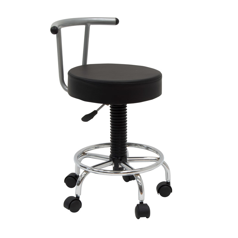 Offex Home Office Futura Stool - Silver/Black offex home office plinth ottoman dark taupe